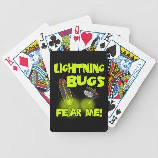 Lightning Bugs fear me Poker Deck