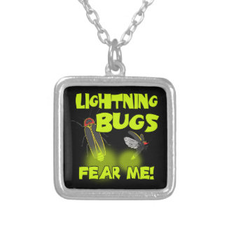 Lightning Bugs fear me Silver Plated Necklace