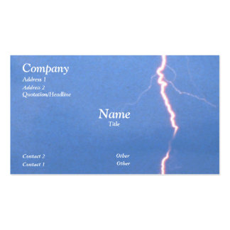 Lightning Double-Sided Standard Business Cards (Pack Of 100)