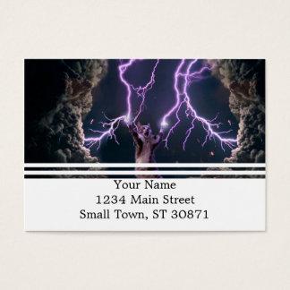 Lightning cat--kitty-pet-feline-pet cat -kittens business card