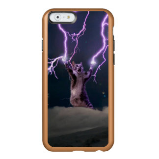 Lightning cat--kitty-pet-feline-pet cat -kittens incipio feather® shine iPhone 6 case