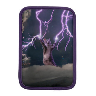 Lightning cat--kitty-pet-feline-pet cat -kittens iPad mini sleeve