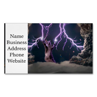 Lightning cat--kitty-pet-feline-pet cat -kittens 	Magnetic business card