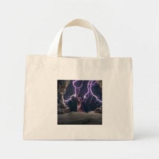 Lightning cat--kitty-pet-feline-pet cat -kittens mini tote bag