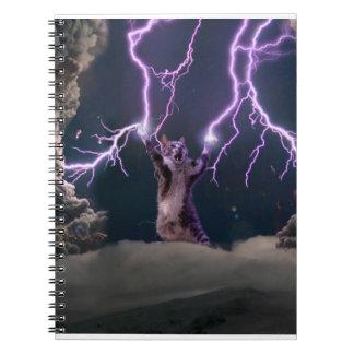 Lightning cat--kitty-pet-feline-pet cat -kittens notebook