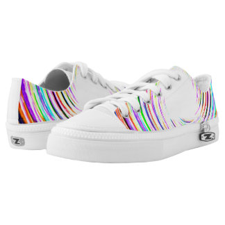 Lightning Color Swirl Womens Shoes Printed Shoes
