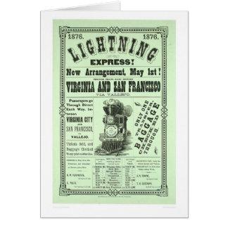Lightning Express! (1831A) Greeting Card
