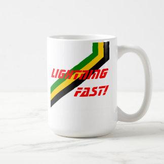 Lightning Fast Jamaica Stripes Coffee Mug