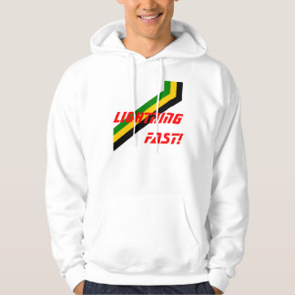 Lightning Fast Jamaica Stripes Hoodie