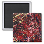 LIGHTNING FLASH (an abstract art design) ~ Square Magnet