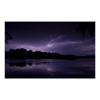 Lightning framed print 2