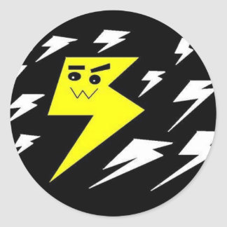 Lightning kawaii strike Sticker