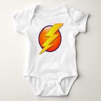 lightning orb energy icon vector baby bodysuit