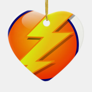 lightning orb energy icon vector ceramic heart decoration