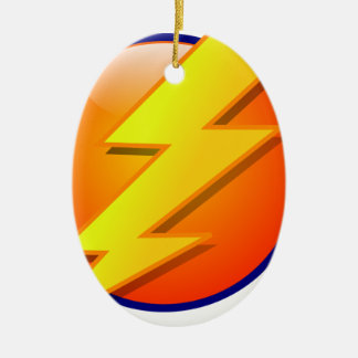 lightning orb energy icon vector ceramic oval decoration