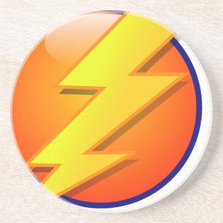lightning orb energy icon vector coaster