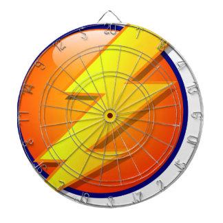 lightning orb energy icon vector dartboard