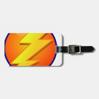 lightning orb energy icon vector luggage tag