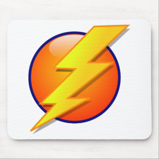 lightning orb energy icon vector mouse pad