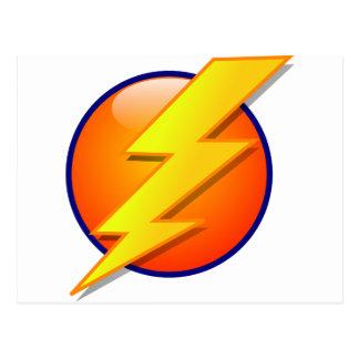 lightning orb energy icon vector postcard