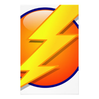 lightning orb energy icon vector stationery