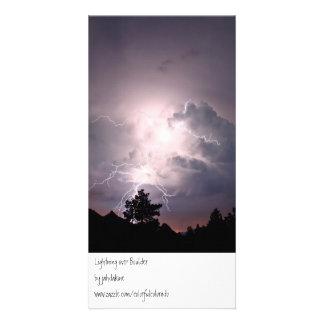 Lightning over Boulder Picture Card