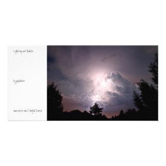 Lightning over Boulder Personalized Photo Card