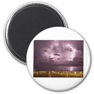 Lightning Over Miramare Di Rimini Italy Fridge Magnets
