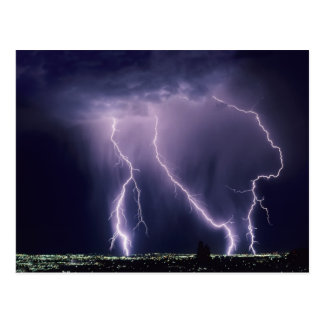 Lightning over Salt Lake Valley, Utah. Postcard