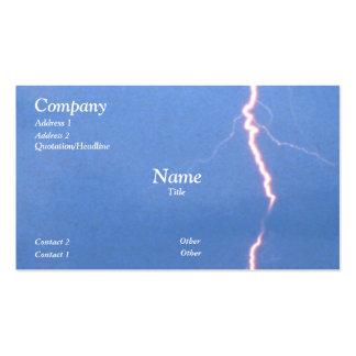 Lightning Pack Of Standard Business Cards