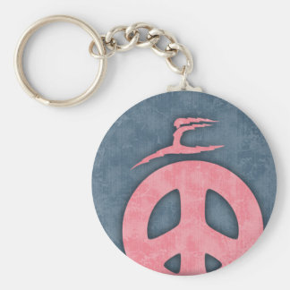Lightning Peace Basic Round Button Key Ring