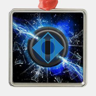 Lightning power metal ornament