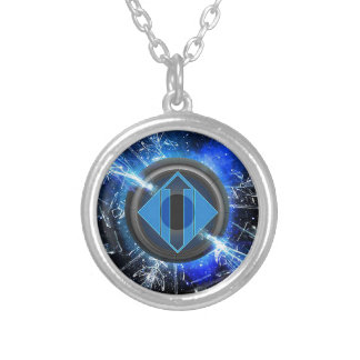 Lightning power silver plated necklace