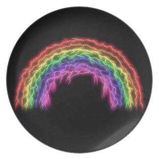 Lightning Rainbow Plate