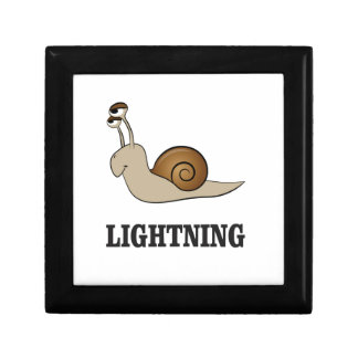 lightning snail small square gift box