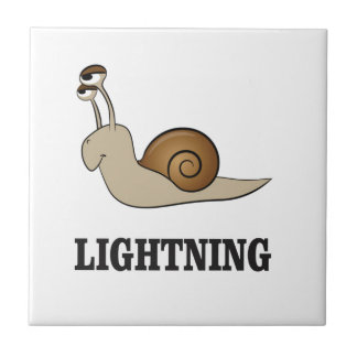 lightning snail small square tile