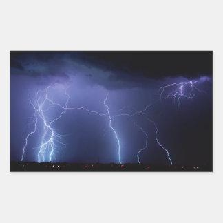 Lightning Strike 3 Rectangular Sticker
