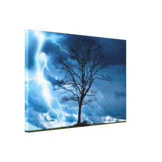 Lightning Strike Gallery Wrapped Canvas