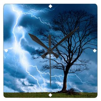 Lightning Strike Wallclocks