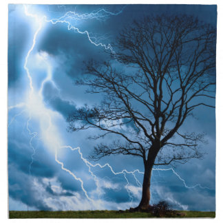 Lightning Strike Printed Napkin