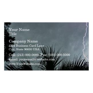 Lightning strike on dark sky pack of standard business cards
