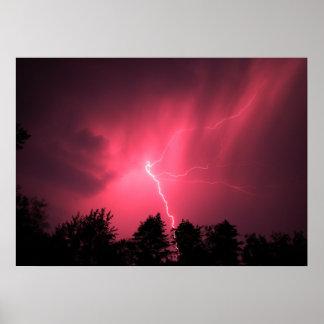 Lightning Strike Photography Poster