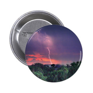 Lightning Strike Pinback Button