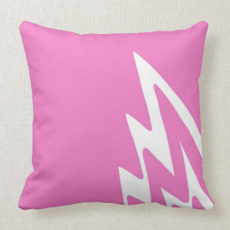 Lightning Strike - Pink Artwork Design Throw Pillow