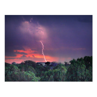 Lightning Strike Postcard