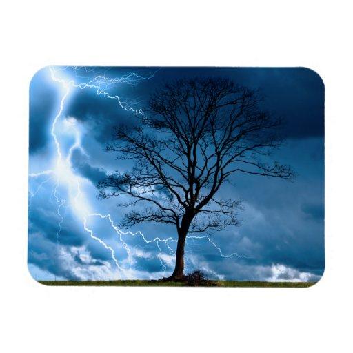 Lightning Strike Rectangular Magnet