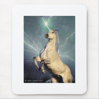 Lightning Strike Unicorn Mouse Pad