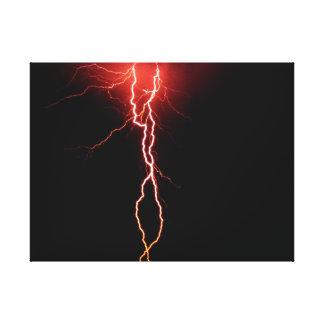 Lightning Strike wrapped canvas Canvas Print