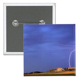 Lightning strikes buttes near Scottsbluff Buttons