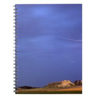 Lightning strikes buttes near Scottsbluff Note Book